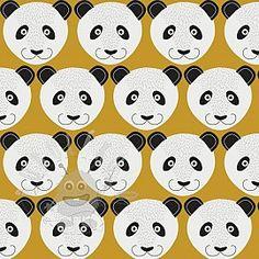 Teplákovina Pretty panda yellow