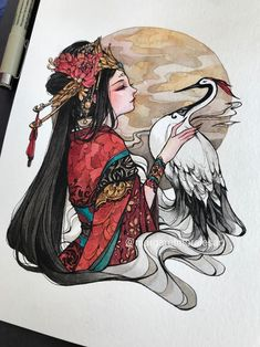 Margaret Morales is a visual designer, painter and watercolor artist from Philippines. Art And Illustration, Watercolor Illustration, Amazing Drawings, Beautiful Drawings, Amazing Art, Dark Art Paintings, Arte Sketchbook, Watercolor Artists, Art Drawings Sketches