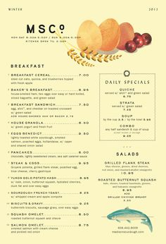 Madison Sourdough Winter Cafe Menu.