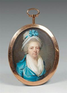 Portrait de femme à la robe bleue, par Claude Bornet