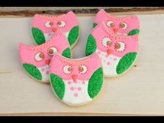 I made pretty Owl Cookies, in this video I show you how to decorate pretty woodland inspired cookies and I will also show you how to use cookie moss with roy...