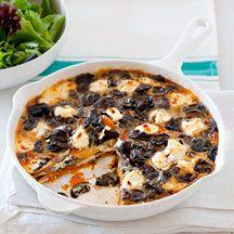 Frittata van champignons en geitenkaas