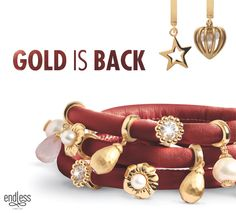 Gold is back. Wear your gold charms to make a statement today! New at Simon Jewelers :)