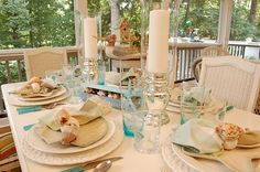 Love the nautical theme to this tablescape!