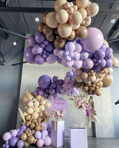 This install is super cute and super cool is everyday! Custom Balloon Design & Install by Props Photographer Florals Sweets Venue . Butterfly Balloons, Pastel Balloons, Helium Balloons, Balloon Arch, Balloon Garland, Balloon Bouquet, Purple Butterfly, Balloon Decorations Party, Birthday Party Decorations