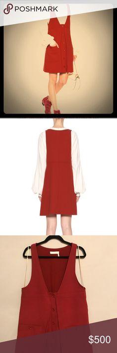 Chloe pinafore dress Burnt orange Chloe pinafore dress. Great large pockets. Worn twice. Practically new. Chloe Dresses Mini