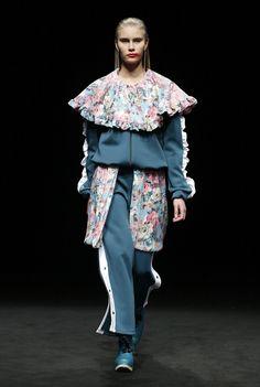 Fashion Show ODAXELAGNIA Womenswear Fall 18 by Anel Yaos at 080 Barcelona Fashion TNC  Boots  Eferro Accessories  Fátima Beltrán  #AnelYaos #080barcelonafashion #odaxelagnia #teatrenacionalcatalunya #Womenswear #Readytowear #art #artdirection #creativedirection #designer #women #creativefashion #styling #fashionshow #woman