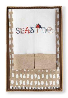 Seaside 2 Piece Towel Set (Set of 2)