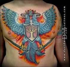 cd6bf209a David Mushaney, Lewisville, Tevas Rebel Muse Tattoo, Male Chest, Line Work  Tattoo