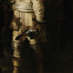 Militia Company of District II under the Command of Captain Frans Banninck Cocq, Known as de 'Night Watch', Rembrandt Harmensz van Rijn, 1642 - Detail by Google Art Project
