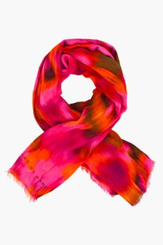 Marc by Marc Jacobs warp ikat scarf. That's a spectacular pink!