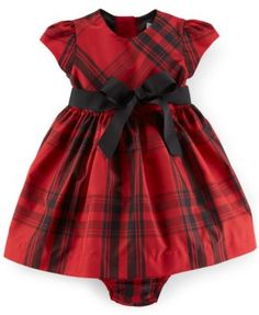 Ralph Lauren Baby Girls' Plaid Fit & Flare Dress