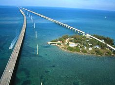 "Seven Mile Bridge...scene of the gun battle in ""A Pirate Looks at Forty"""