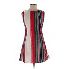 Pre-owned Mela Loves London Casual Dress Size 8: Red Women's Dresses (£25) ❤ liked on Polyvore featuring dresses, red, white day dress, pre owned dresses, red day dress, preowned dresses and white dress