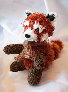Rufus the Snuggly Plush Crochet Red Panda by EstherMouse on Etsy, £12.00