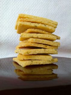 Grain Free Rosemary Olive Oil Crackers - Almond Flour, 1 egg, and olive oil are ingredients