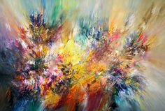 "Saatchi Art Artist Peter Nottrott; Abstract, modern, large Painting, ""Energetic XL 5"" #art"