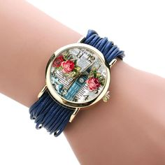 2016 New Design Watches Women Quartz-watch Plating Gold Multicolor Optional Alloy Rope Chain Brecelets WristWatches Ladies gifts