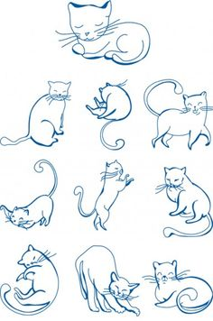 Cats & Dogs Embroidery Designs