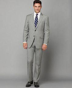 Tommy Hilfiger Suit Separates, Grey Sharkskin Slim Fit - Suits & Suit Separates - Men - Macy's