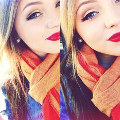 Homecoming makeup #redlips #wingedeyeliner