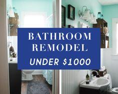 Bathroom Remodel Under 1000 diy bathroom reno for under $1000 www.simplesanctuaryblog