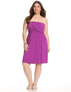 50120e6cec Soft knit tube dress is an easy choice for everyday flattery with a sexy  draped bodice and comfortable pull-on styling.