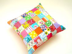 Hey, I found this really awesome Etsy listing at https://www.etsy.com/listing/182831084/vintage-retro-patchwork-cushion-pillow
