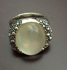 MICHAEL DAWKINS Sterling Mother Of Pearl Starry Night Doublet Ring,  SIZE 6 #MichaelDawkins #Solitaire