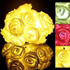 $19.99 for 20 LED Rose Fairy Lights   DrGrab
