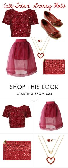 """""""Valentines Dinner Outfit: Cute Trend: Granny Flats contest"""" by im-karla-with-a-k ❤ liked on Polyvore featuring Parker, Chicwish, Coach and Monet"""