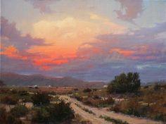 Sunset Eastward View by robert kuester Oil ~ 30 x 40
