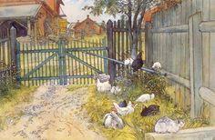 La Porte, huile de Carl Larsson (1853-1919, Sweden)