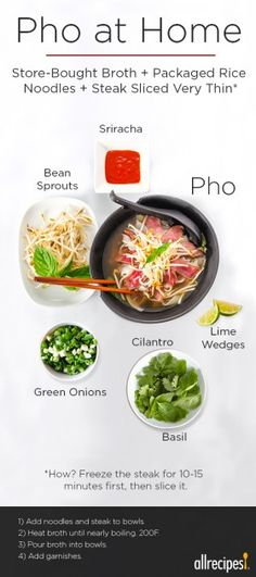 Making pho at home doesn't have to be an all-day affair. Starting with a basic grocery-store broth is the key to phenomenal pho. mei fun recipe chinese food The Easy Way to Make Pho at Home How To Make Pho, Pho To Go, Soup Recipes, Cooking Recipes, Pho Soup Recipe Easy, Asian Recipes, Healthy Recipes, Fast Recipes, Gastronomia