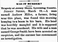 Genealogical Gems: On This Day: Man found hanging in barn
