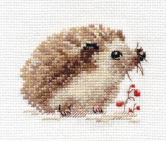 Hedgehog Cross Stitch Kit | sewandso