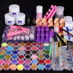 Acrylic Nail Brush, Acrylic Set, Best Acrylic Nails, Acrylic Liquid, Nail Art Tool Kit, Nail Art Tools, Glitter Acrylics, Manicure Tools, Manicure And Pedicure