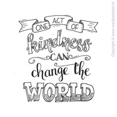 One act of happiness can change the world