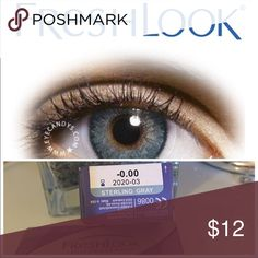 STERLING GRAY CONTACTS Non prescription Cosmetic only Also available in PURE HAZEL, GRAY, GEMSTONE GREEN, STERLING GRAY, HONEY,  TRUE SAPHIRE, AMETHYST, GREEN, BLUE & TURQUOISE I will Include a free case!  FreshLook® COLORBLENDS® contact lenses use 3-in-1 color technology for a naturally beautiful look, whether you want a dramatic transformation or subtle enhancement. Even if your vision is perfect, experience a fresh, new look that's always you.  ✔️If it's listed it's available ✔️Price is…