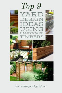 Looking for backyard landscape timber inspiration? You're in luck! Here you'll find the top 9 yard design ideas using landscape timbers. From garden edging to walkway ideas, you'll find it all right here. Take a look and be inspired! Small Front Yards, Yard Maintenance, Landscape Timbers, Backyard Ideas For Small Yards, Walkway Ideas, Landscaping Trees, Garden Edging, Backyard Fences, Yard Design