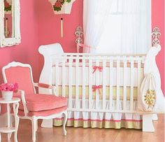 Rose and gold girls nursery
