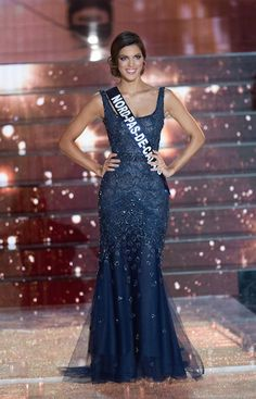 Miss Universe France 2016 Evening Gown: HIT or MISS? | Iris Mittenaere won the title of Miss Universe France 2016 in a streamlined and sophisticated evening gown.   Read more: http://thepageantplanet.com/miss-universe-france-2016-evening-gown/#ixzz3xcSoXkgI