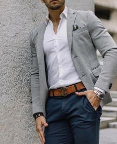 Gut aussehen casual blazer outfits mens - Casual Outfit You are in the right place about balmain Blazer Outfit Here we offer you the most beautiful pictures about the Bla Business Casual Looks For Men, Casual Look For Men, Business Casual Outfits Mens, Mens Business Clothes, Casual Wedding Attire For Men, Summer Business Attire, Business Men, Casual Attire, Mens Fashion Blazer