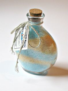 Bath Salts, Sea Salt Bath Soak, Scented- 1 jar, 6 oz Love the scented layers!  @GwensHomemadeGifts on Etsy!