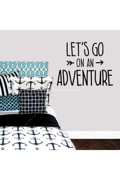 Let's Go On An Adventure Wall Decal/Sticker | Teen Girl, Dorm, Home & Apartment Decor