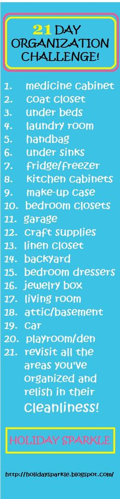 21 Day Organization Challenge - 2, every other weekend will probably all year, but at least it'll get done.
