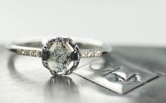 .58 Carat Smoky Gray Diamond in White Gold - CHINCHAR•MALONEY
