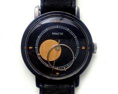 Soviet watch Russian watch Copernicus Watch  moon by SovietWatches