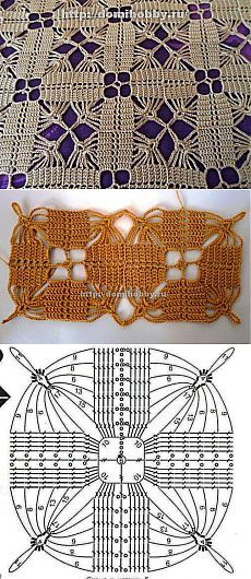 Transcendent Crochet a Solid Granny Square Ideas. Inconceivable Crochet a Solid Granny Square Ideas. Filet Crochet, Crochet Motifs, Granny Square Crochet Pattern, Crochet Blocks, Crochet Diagram, Crochet Stitches Patterns, Crochet Chart, Crochet Squares, Irish Crochet