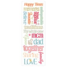 Momenta Family Message Puffy Stickers